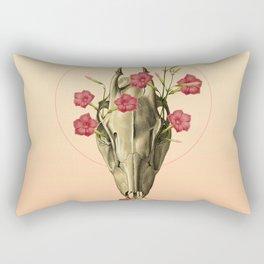 Switch of Celebration - Skull and Flowers Rectangular Pillow
