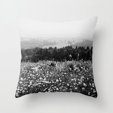 Mountain Wildflowers Throw Pillow
