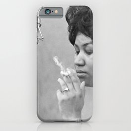 Aretha Franklin Poster Photo Paper iPhone Case