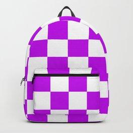 Cheerful Purple Checkerboard Pattern Backpack