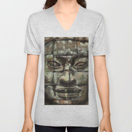 The Face of Angkor Thom Unisex V-Neck