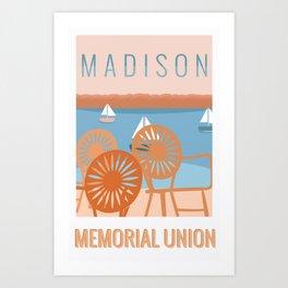 Memorial Union Travel Poster Art Print