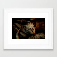 scary Framed Art Prints featuring Scary by LoRo  Art & Pictures