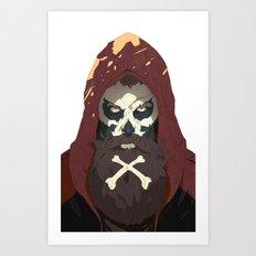 Skullbeard Art Print