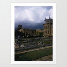Blenheim Palace * 1950's * Vintage England Photo * Kodachrome * Color * Travel Photography Art Print