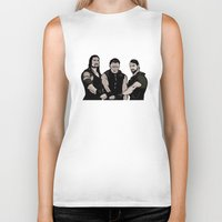 wwe Biker Tanks featuring WWE - The Shield by Chaotic Color