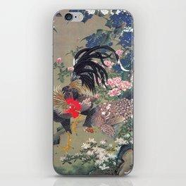 Jakuchu Niwatori Rooster iPhone Skin