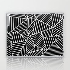 Ab Lines Black on White Laptop & iPad Skin