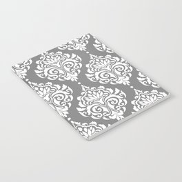 Grey Damask Notebook