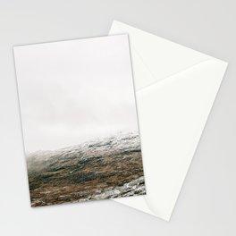 White winter mountain landscape | Norway travel photography print | Trolltunga Wanderlust art Stationery Cards