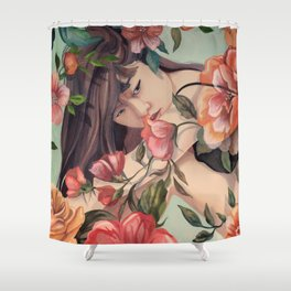 Steal Blossom Shower Curtain