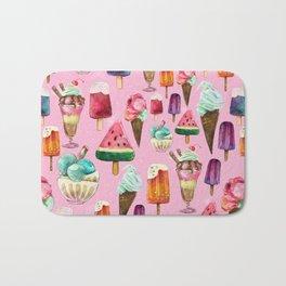 ice-cream pattern Bath Mat