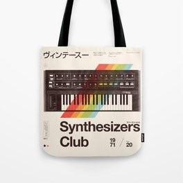 Synthesizers Club Tote Bag