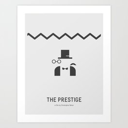 Flat Christopher Nolan movie poster: The Prestige Art Print