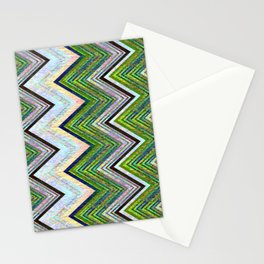 Emerald Chevron Stationery Cards