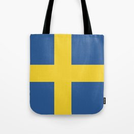 Sweden flag emblem Tote Bag