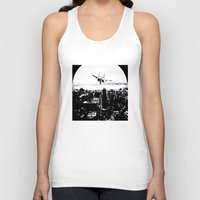 airplane Tank Tops featuring airplane by Anand Brai