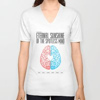 eternal sunshine of the spotless mind V-neck T-shirts featuring Eternal Sunshine of the Spotless Mind - Alternative Movie Poster by Anthony DeCarolis