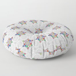 Colorful Black and White Pattern Floor Pillow