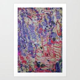 Flame On marbleized print Art Print