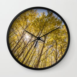 Sparkling Autumn Wall Clock