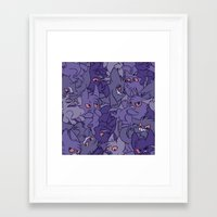 gengar Framed Art Prints featuring Gengar invasion! by inki