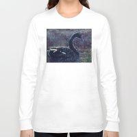 black swan Long Sleeve T-shirts featuring Black swan by jbjart