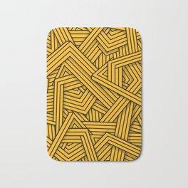 Lines - Yellow Bath Mat