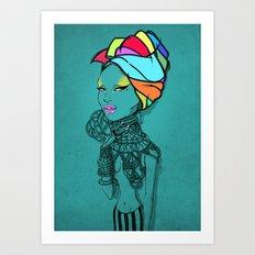 ERYKAH Art Print