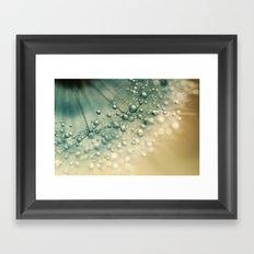 Sea Green Sparkles Framed Art Print