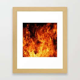 Orange flame Framed Art Print