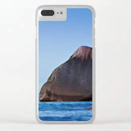Rock on the Baltic Sea coast Clear iPhone Case