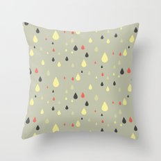 retro raindrops Throw Pillow