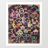 Galactic Pixel War Art Print