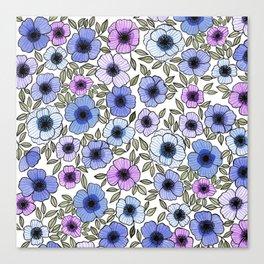 Poppy Purples Canvas Print