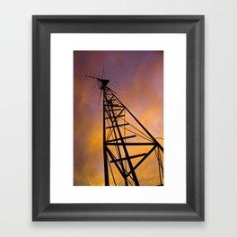 The Old Radio Tower at Sunset Framed Art Print