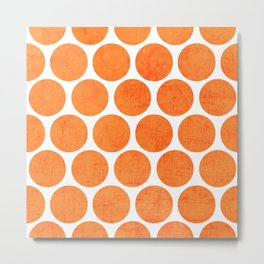 orange polka dots Metal Print