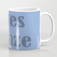totes Mugs featuring Totes Amaze Blue by PintoQuiff