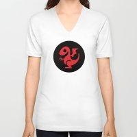 daenerys targaryen V-neck T-shirts featuring Modern Dragon Sigil by Arne AKA Ratscape