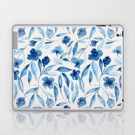 Prussian Floral Laptop & iPad Skin