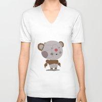 thundercats V-neck T-shirts featuring Ro-Bear-Bill by Rod Perich
