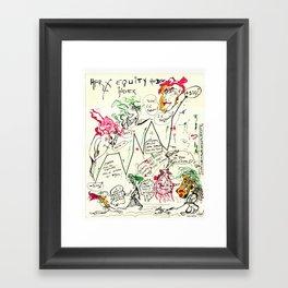 Econographics Framed Art Print