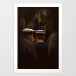 Rememberance day 2011 - Falmouth Art Print