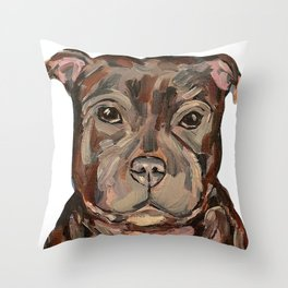 Sallie the dog Throw Pillow