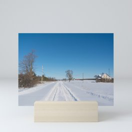 morning after the snowstorm Mini Art Print