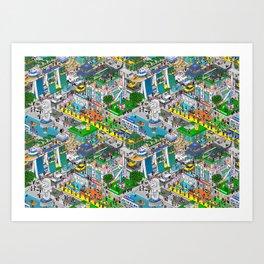 Pixels X Singapore Art Print