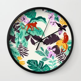Banana blossom Wall Clock