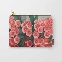 Pink Floral The Narrow-leaved Kalmia : Temple of Flora Carry-All Pouch