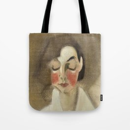 Vintage poster-Helene Schjerfbeck- Rosy-Cheeked Girl. Tote Bag