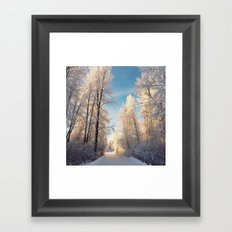 Let There Be Light - Frost Trees in Winter Framed Art Print